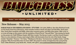 Bluegrass Unlimited Review_May 2015
