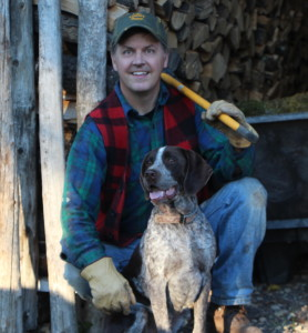 Mike Birkeland with his German Shorthair, Chestnut